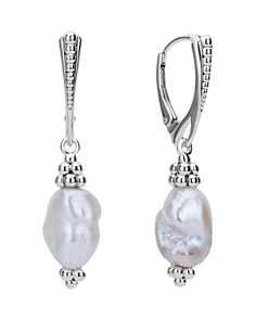 LAGOS - Sterling Silver Luna Freshwater Keshi Pearl Drop Earrings