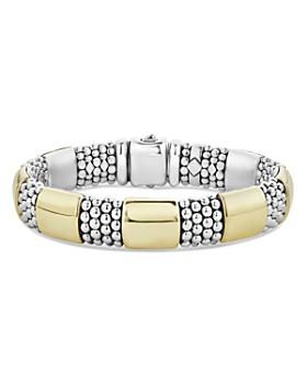 LAGOS -  LAGOS 18K Yellow Gold & Sterling Silver High Bar Bracelets
