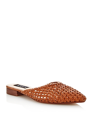 Aqua Women's Leana Woven Leather Mules - 100% Exclusive