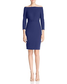 LIKELY - Duchess Off-the-Shoulder Sheath Dress