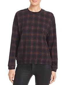 Kenneth Cole - Lightweight Plaid Sweatshirt