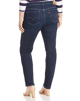 Levi's Plus - 311 Shaping Skinny Jeans in Dark Blue