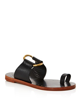 5f7aa897293c99 Tory Burch - Women s Ravello Studded Leather Slide Sandals ...