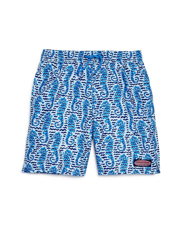 2a2874bdb4 Vineyard Vines Boys  Seahorse Waves Chappy Swim Shorts - Little Kid ...