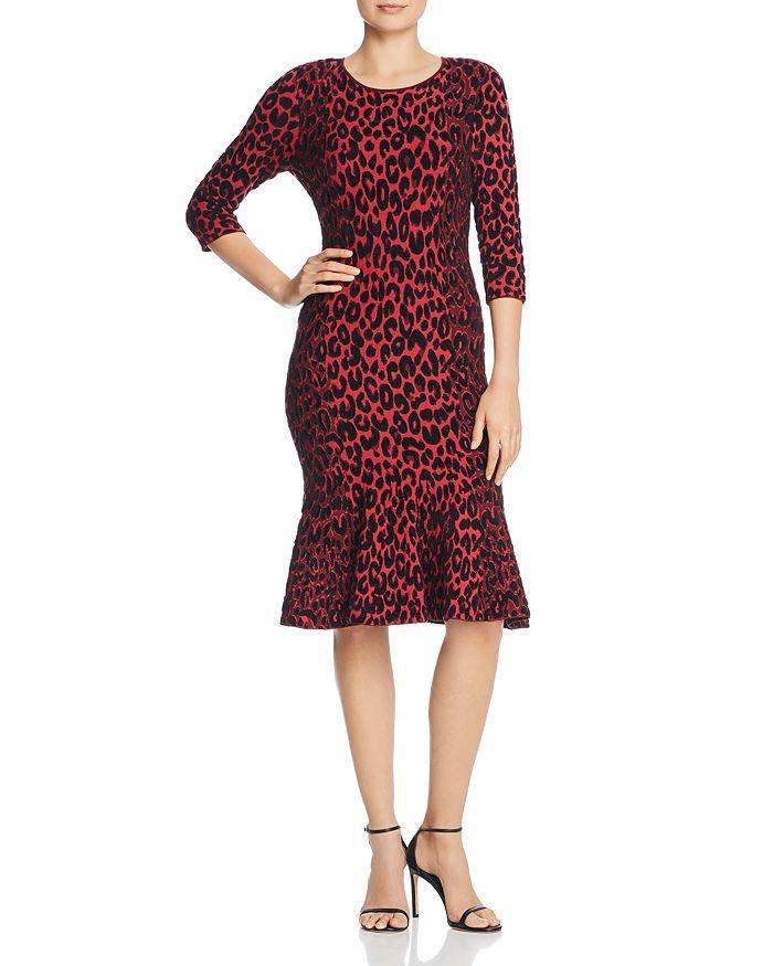 89a835e5bd MILLY - Textured Leopard-Print Dress