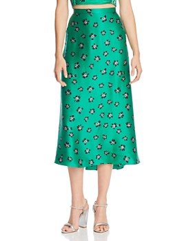 Bec & Bridge - Tropicana Printed Silk Skirt