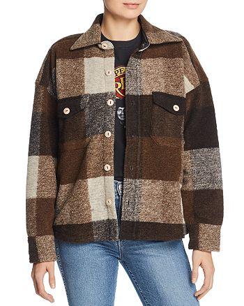 Anine Bing - Bobbi Plaid Flannel Jacket