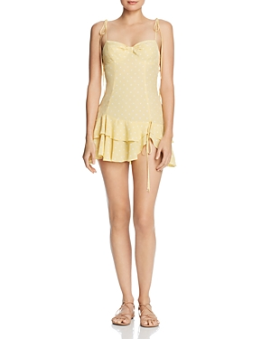 For Love & Lemons LIMONCELLO TIERED-RUFFLE MINI DRESS