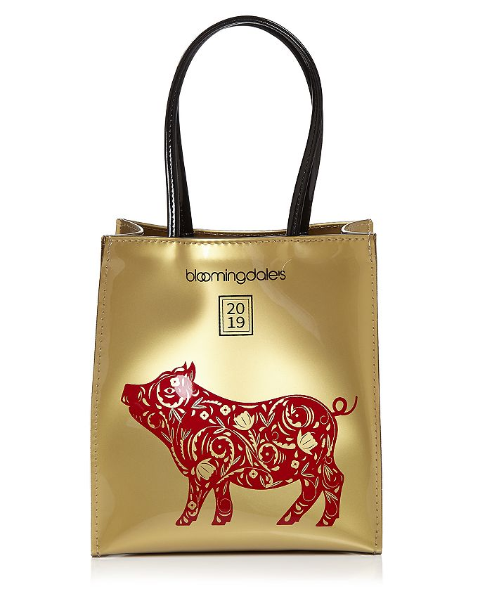 b4a8122390ff Bloomingdale s Lunar New Year Little Brown Tote - 100% Exclusive ...