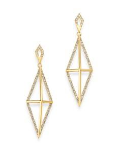 Bloomingdale's - Diamond Geometric Drop Earrings in 14K Yellow Gold, 0.50 ct. t.w. - 100% Exclusive