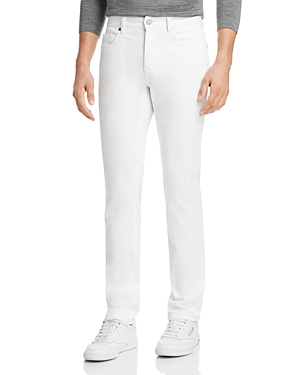 Z Zegna Jeans GARMENT-DYED STRETCH COTTON STRAIGHT FIT JEANS