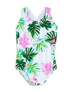 PilyQ Girls' Mingos One-Piece Swimsuit - Baby
