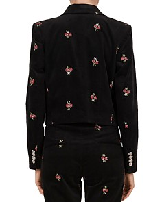 The Kooples - Cropped Open-Front Floral Blazer