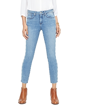 Nydj Jeans AMY SIDE-TRIM SKINNY ANKLE JEANS IN AQUINO