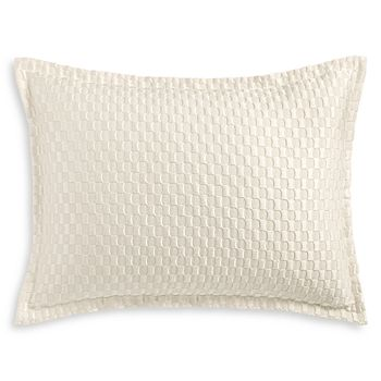 Hudson Park Collection - Luxe Block Matelassé Quilted Standard Sham - 100% Exclusive