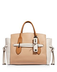 COACH Swagger 27 Small Satchel in Pebble Leather