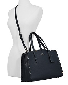 COACH - Charlie Studded Leather Tote
