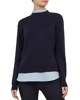 7c87518bf Ted Baker - Lissiah Bobble Layered-Look Sweater ...