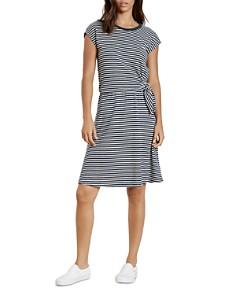 Velvet by Graham & Spencer - Mitzi Tie-Front Striped T-Shirt Dress