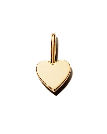 Zoë Chicco - 14K Yellow Gold Midi Bitty Heart Charm