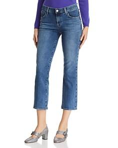 J Brand - Selena Crop Bootcut Jeans in Polaris Destruct