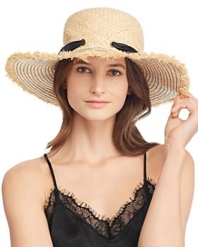 Echo - Silk-Tie Raffia Sun Hat