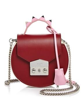 Salar - Carol Color-Block Leather Circle Shoulder Bag