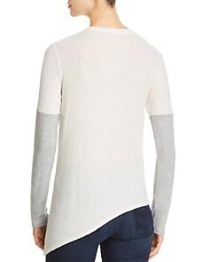 Red Haute - Color-Block Asymmetric-Hem Sweater
