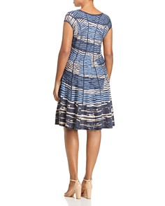 NIC and ZOE Plus - Mesmerize Twirl Printed Sweater Dress