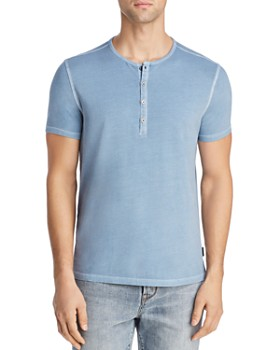 180872d23 TRIPLE POINTS FOR LOYALLISTS IN MEN S. John Varvatos Star USA - Bard Short  Sleeve Henley - 100% Exclusive