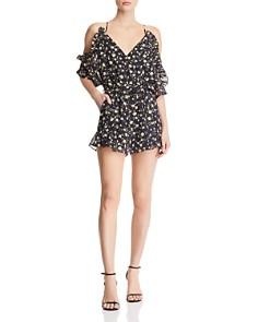 Bardot - Poppy Cold-Shoulder Floral-Print Romper - 100% Exclusive