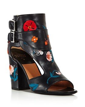 Laurence Dacade - Women's Rush Floral Leather Block Heel Sandals