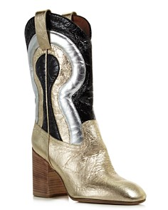 Laurence Dacade - Women's Troy Tall Metallic Leather Western Boots
