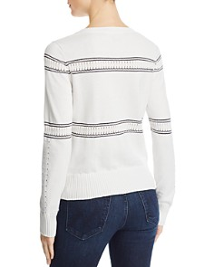 FRENCH CONNECTION - Skye Cotton Contrast-Trim Sweater