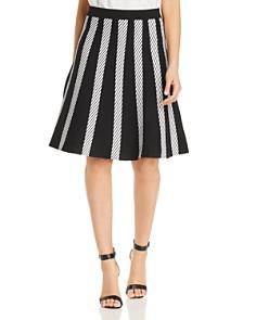 Calvin Klein - Diagonal Stripe Knit Skirt
