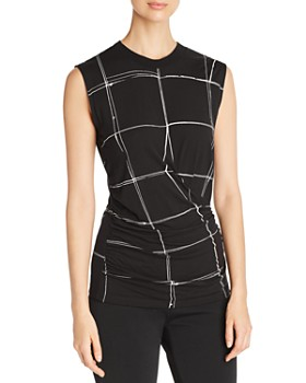 BOSS - Esanta Grid Print Top