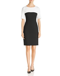 BOSS - Daina Two-Tone Shift Dress