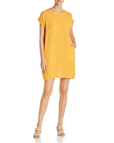 Eileen Fisher Petites - Plissé Shift Dress