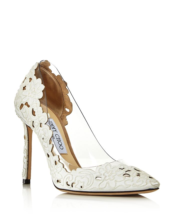 4b55a801e2bb Jimmy Choo - Women s Romy Clear Floral Pumps