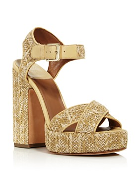 Laurence Dacade - Women's Rosange Raffia Platform Sandals