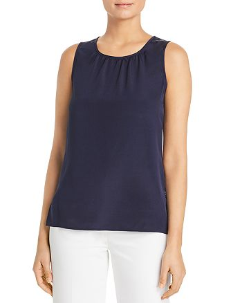 St. John - Shirred-Neck Tank
