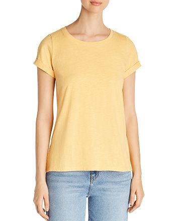 Eileen Fisher - Organic Cotton Roll-Cuff Tee - 100% Exclusive