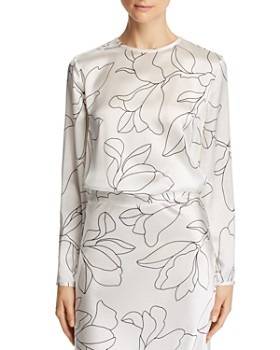 Equipment - Alisanne Printed Silk Top