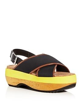 Marni - Women's Crisscross Slingback Platform Sandals