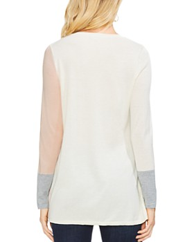 VINCE CAMUTO - Color-Block Tunic Sweater
