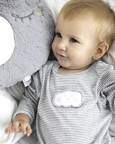 Albetta - Unisex Crochet-Cloud Striped Coverall - Baby
