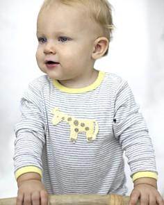 Albetta - Unisex Crochet-Giraffe Striped Coverall, Baby - 100% Exclusive