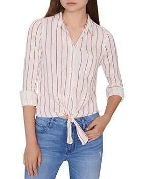 e38c6aa67b560 Sanctuary - Hayley Striped Tie-Hem Shirt ...