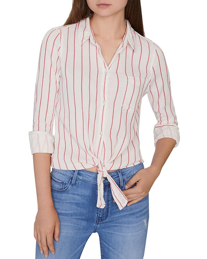 Sanctuary - Hayley Striped Tie-Hem Shirt
