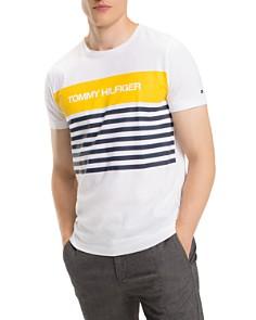 Tommy Hilfiger - Stripe Logo Graphic Tee